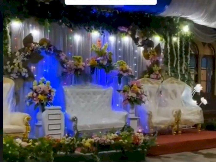 Viral Pelaminan Pernikahan Panjang Banget, Tamu Membludak, Ternyata Ini yang Menikah