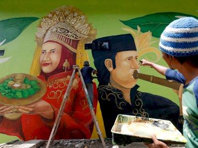 FOTO: Mural Seni Budaya Taman Bustanussalatin