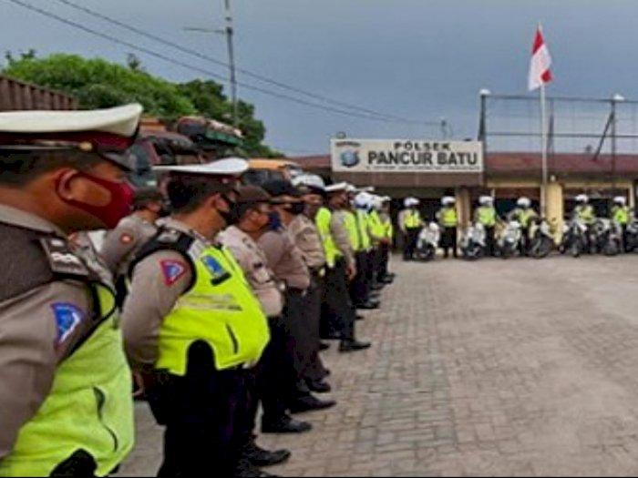 Libur Panjang, Puluhan Polisi Lalulintas Amankan Sejumlah Titik di Jalur Medan-Berastagi