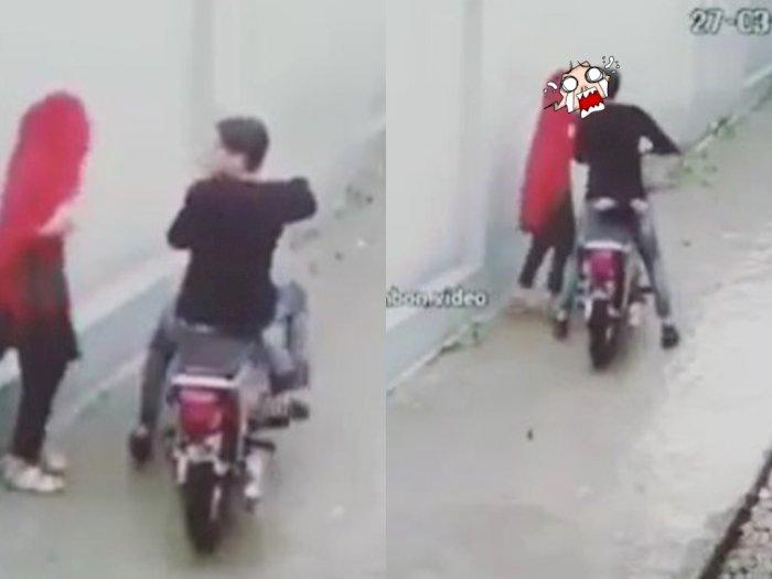 Dua Sejoli Ciuman di Gang Sempit Usai Lirik Kanan Kiri, Nggak Taunya Terekam CCTV