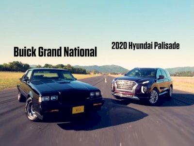 Pertarungan Drag Race Antara Hyundai Palisade 2020 dan Mobil Tua Buick Grand National