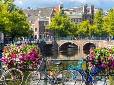 Amsterdam Pakai Bunga Guna Cegah Warga Parkir Sepeda di Pagar Jembatan