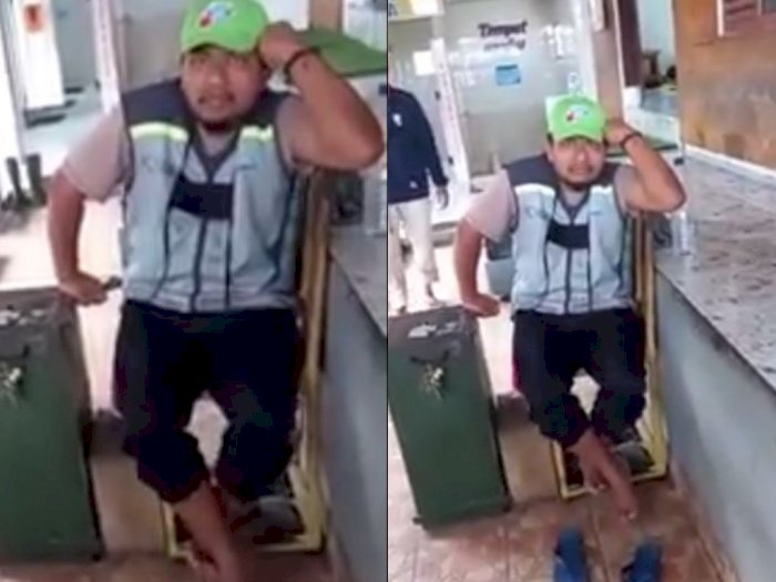 Penjaga Toilet SPBU Nekat Pegang Bokong Wanita Bersuami, Tetap Santai saat Direkam Korban