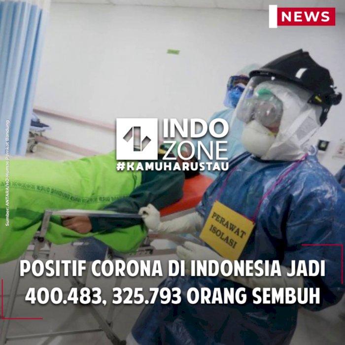 Positif Corona di Indonesia Jadi 400.483, 325.793 Orang Sembuh