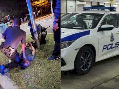 Greget! Dua Pria Ini Curi Mobil Polisi di Markas Polisi, Tidak Ada Polisi yang Curiga