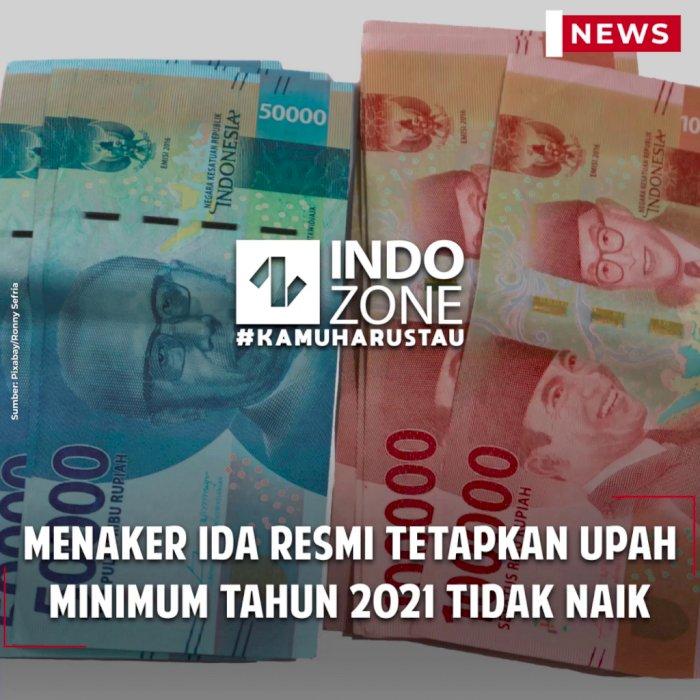 Menaker Ida Resmi Tetapkan Upah Minimum Tahun 2021 Tidak Naik