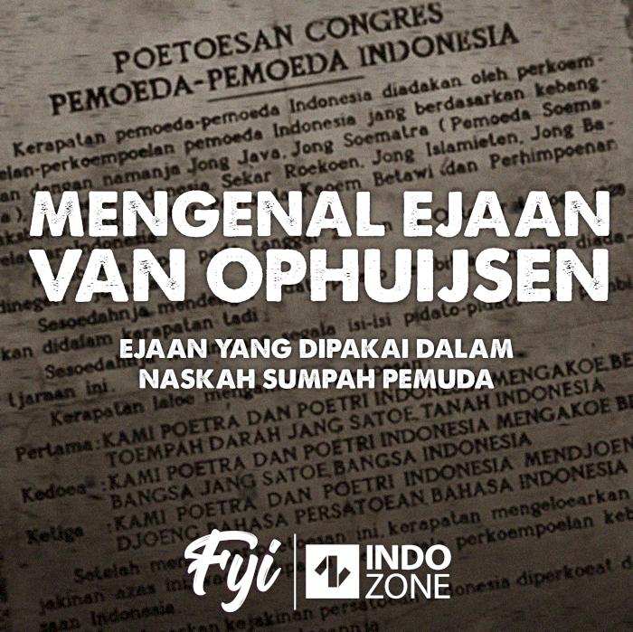 Mengenal Ejaan Van Ophuijsen, Ejaan dalam Naskah Sumpah Pemuda