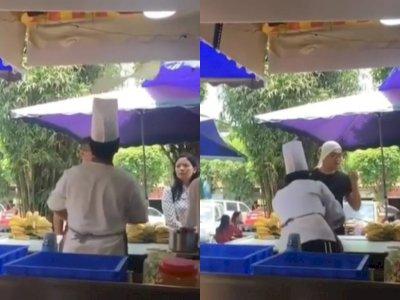 Viral Koki Gagal Atraksi, Adonannya Malah Nyasar ke Kepala Pelanggan