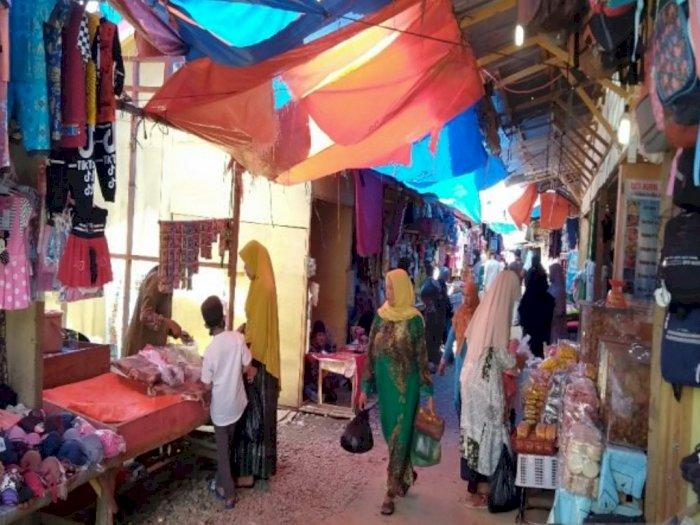 Duhh! Pengunjung dan Pedagang Pasar Baru Panyabungan Madina Masih Abai Protokol Kesehatan