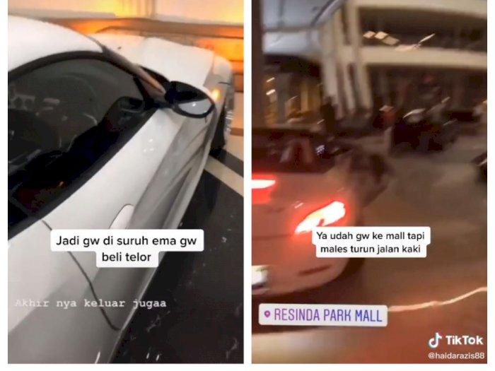 Disuruh Emak Beli Telor, Pria Sultan Naik Mobil Sport Masuk ke Mall, Malas Jalan Kaki