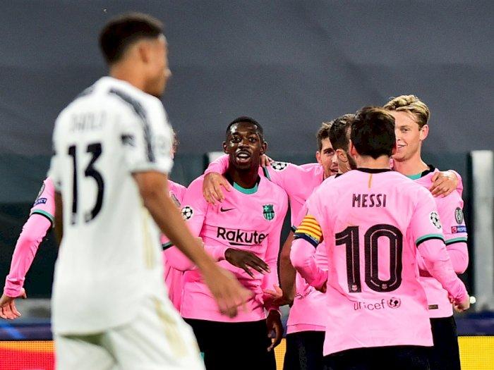 Dembele dan Messi Cetak Gol, Inilah Sederet Fakta Duel Juventus 0-2 Barcelona