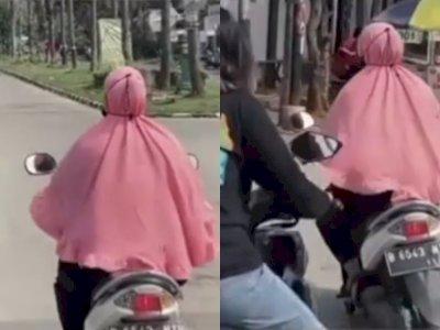 Duh! Emak-emak ini Belok Sembarangan di Persimpangan, Netizen: Sein Kanan, Belok ke Kiri