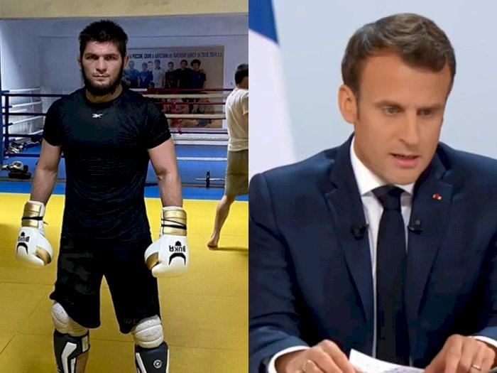 Murka Khabib Nurmagomedov ke Presiden Prancis, 'Semoga Tuhan Nodai Wajah Makhluk Ini'