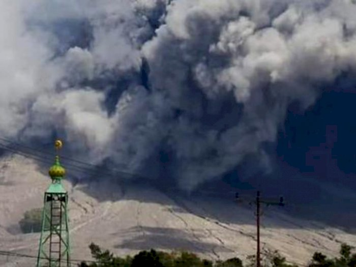 Erupsi Gunung Sinabung di Karo, Tiga Kecamatan Terdampak Awan Panas