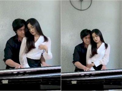Kevin Aprilio Asyik Main Piano Sambil Pangku Istri, Netizen: Otak Auto Travelling