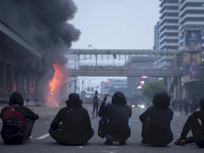 Heboh Narasi TV Bongkar Dalang Pembakar Halte saat Demo Omnibus Law, Ini Kata Polda Metro