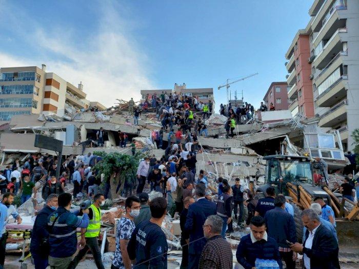 Gempa Berkekuatan M 7.0 Guncang Turki Hingga Yunani