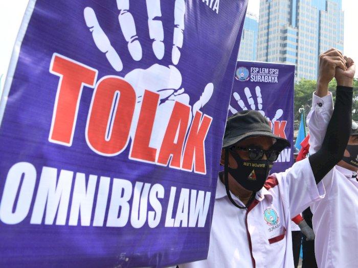 Protes Omnibus Law dan Upah Tak Naik 2021, Buruh di Sumut Gelar Demo 2 November
