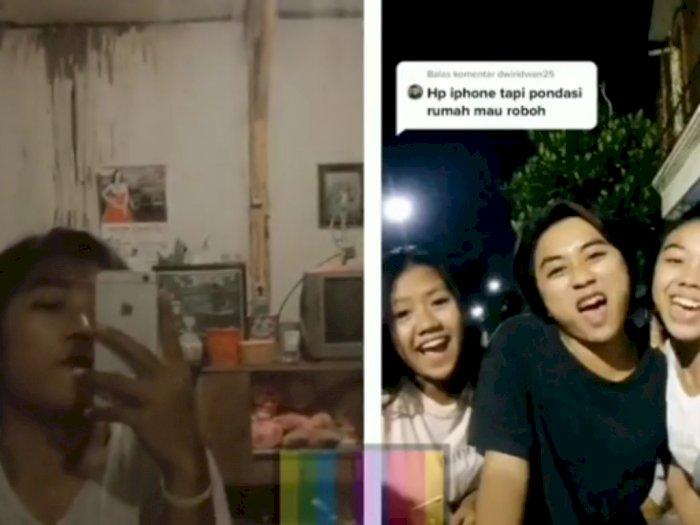 Viral Cowok Pamer iPhone dan Ejek Pengguna HP Lain, Netizen: HP iPhone Rumah Mau Roboh