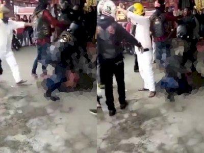 Viral Rombongan Moge Keroyok 2 Orang yang Diduga Anggota TNI