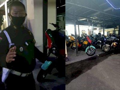 Wow! Buntut Pengeroyokan Dua Anggota Intel TNI, 14 Unit Moge Mewah Parkir di Kantor Polisi