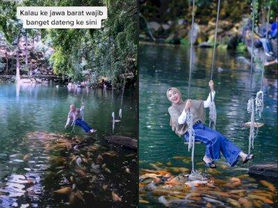 Ada Danau Sebening Kaca di Kuningan, Netizen: Tempatnya Adem Banget
