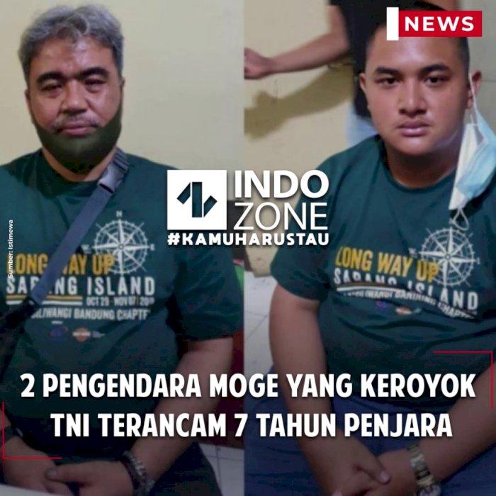 2 Pengendara Moge yang Keroyok TNI Terancam 7 Tahun Penjara