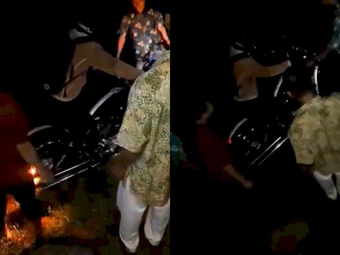 Heboh! Moge Mewah Harley Davidson Nyemplung ke Sawah, Ternyata Alami Kecelakaan Tunggal