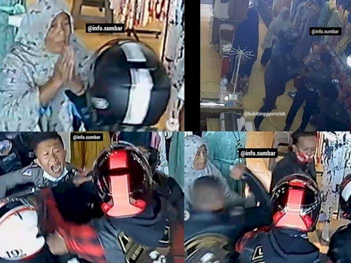 Miris! Potret Emak-emak Sampai Rela Memohon Agar Rombongan Moge Berhenti Keroyok Intel TNI