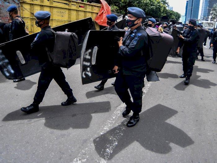 FOTO: Pengamanan Kedubes Prancis