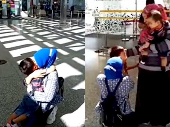 Tangis Pilu Perpisahan Bocah 5 Tahun dengan Pengasuhnya, Netizen Ikut Mewek