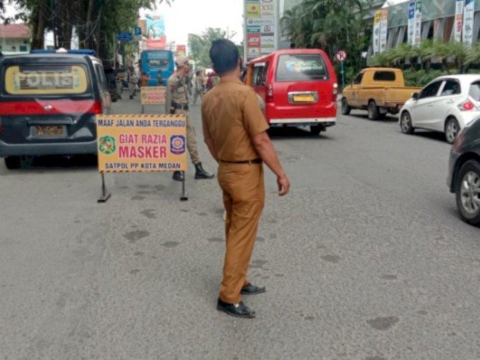 Tim Gabungan Satgas Covid-19 Medan Kembali Gelar Razia Masker, 15 Warga Terjaring