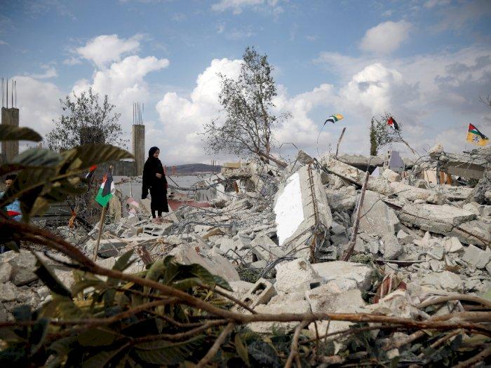 Kejam! Israel Hancurkan Permukiman Warga Palestina, Ini Foto-fotonya