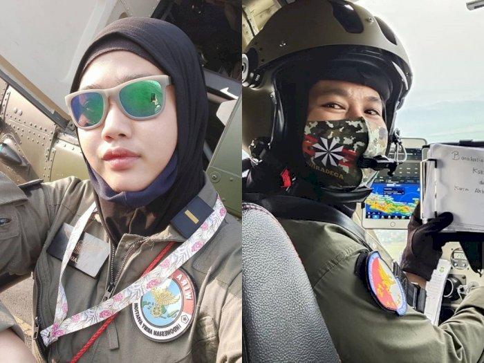 Inspiratif! Kisah Anak Pedagang Jagung Bakar yang Sukses Jadi Pilot Wanita Pertama TNI AD