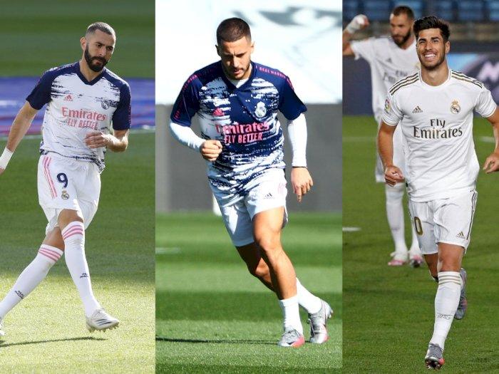 Zidane Harap Benzema, Hazard dan Asensio Mainkan Peran Penting di Madrid