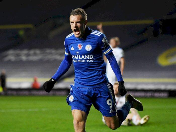 FOTO: Liga Inggris, Leicester City Bantai Leeds United 4-1