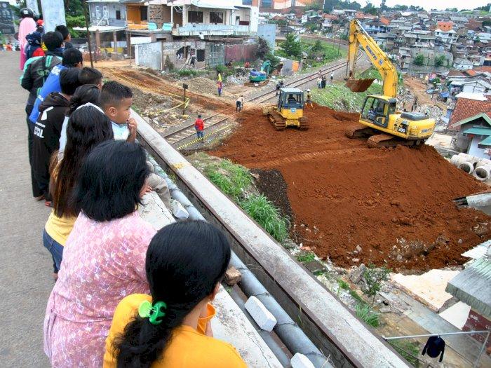 FOTO: Proyek Pembangunan Jalur Ganda KA Bogor-Sukabumi