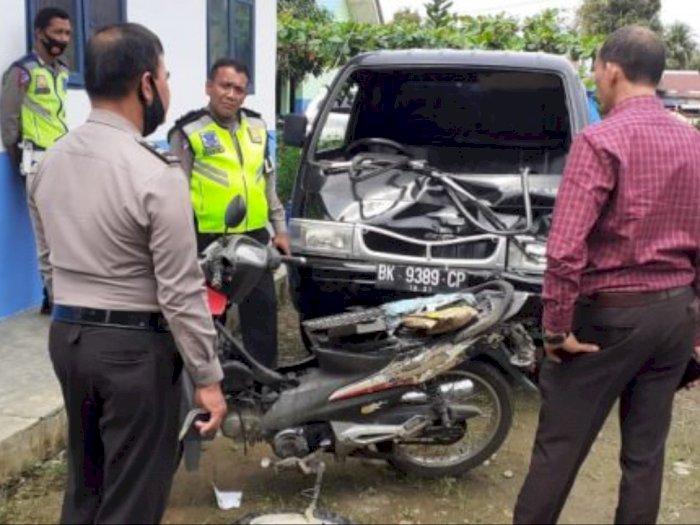 Laga Kambing Motor Versus Mobil di Deli Serdang, Seorang Korban Meninggal Dunia