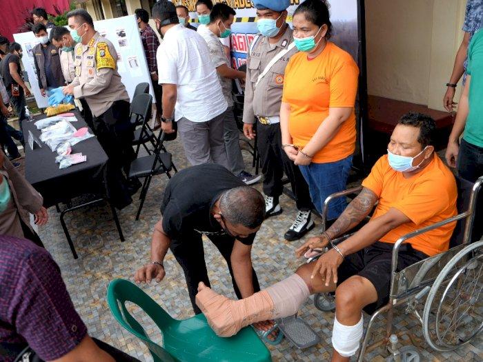 FOTO: Rilis Kasus Penembakan Polisi di Medan