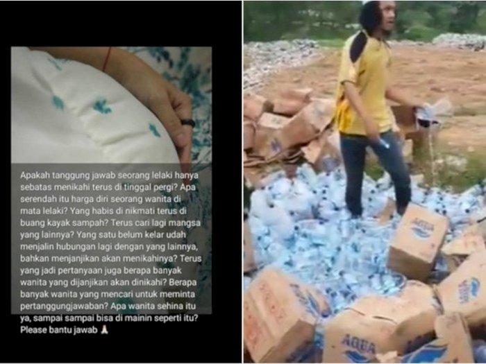 POPULER: Curhat Istri Ditinggal Suami saat Hamil & Ratusan Botol Air Mineral Dihancurkan