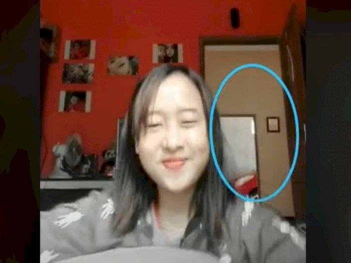 Cewek Bikin Video Tiktok, Netizen Salfok Sosok di Belakangnya, Merinding