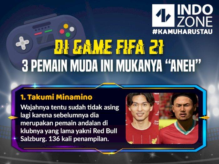 """Di Game FIFA 21, 3 Pemain Muda Ini Mukanya """"Aneh"""""""