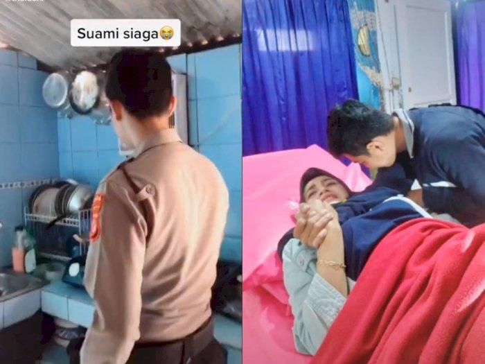 Suami Wanita ini Bantu Memasak Saat Dirinya Sakit, Bikin Netizen Ingin Cepat Menikah