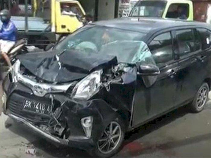 Kecelakaan Beruntun di Jalan Menteng Medan, Pengemudi Mengantuk Ini Siap Ganti Rugi