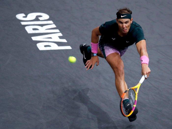 FOTO: Paris Masters, Rafael Nadal Melaju Ke Semifinal