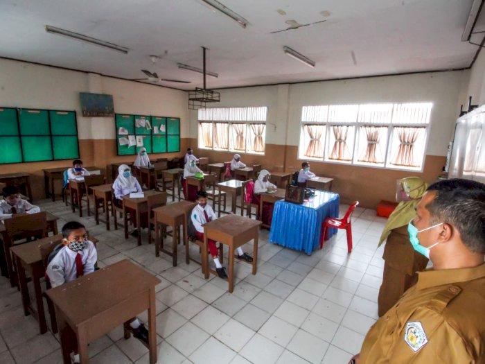 FOTO: Uji Coba Sekolah Tatap Muka Terbatas di Aceh