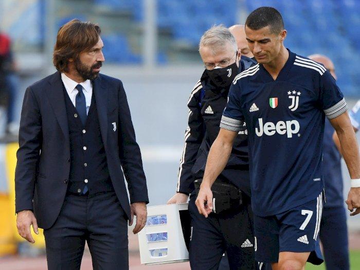 Lazio vs Juventus: Pirlo Konfirmasi Ronaldo Cedera Engkel