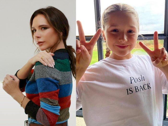 Putri Victoria Beckham yang Masih 9 Tahun Merias Matanya dengan Sangat Sempurna