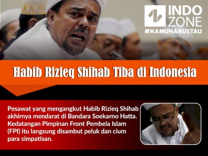 Habib Rizieq Shihab Tiba di Indonesia