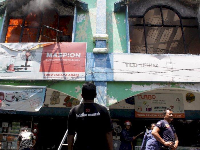 FOTO: Kebakaran di Pasar Larangan Sidoarjo